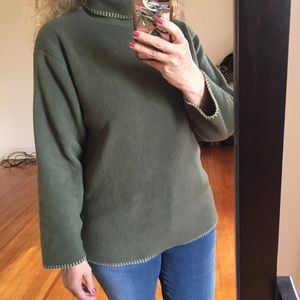 Woolrich vintage fleece turtleneck olive green